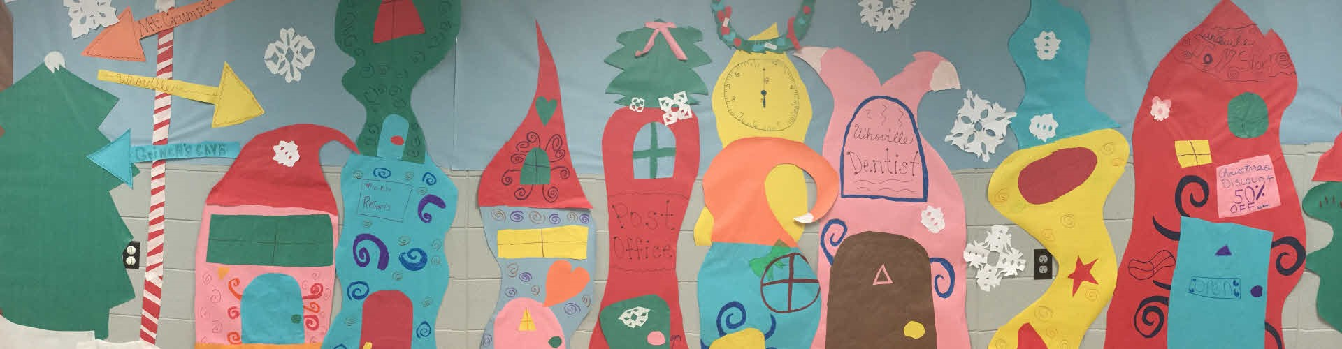 BENTON ELEMENTARY TOMAHAWK THEATER HOLIDAY PLAY BACKDROP